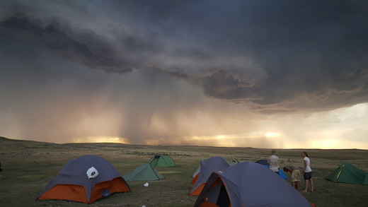 Storm boven Wyoming